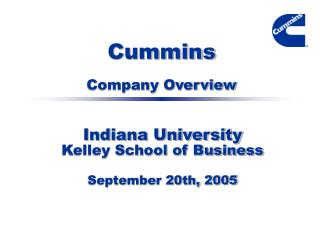 Cummins Company Overview