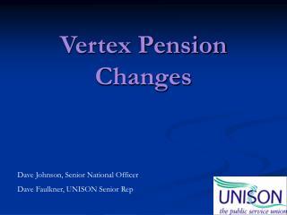 Vertex Pension Changes
