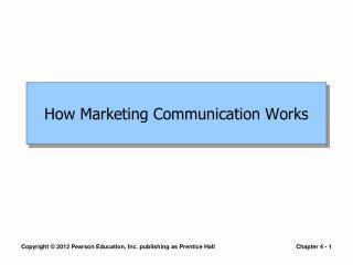 How Marketing Communication Works