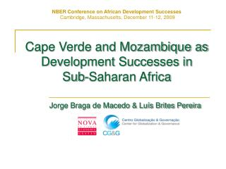 Cape Verde and Mozambique as Development Successes in  Sub-Saharan Africa