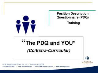 Position Description Questionnaire (PDQ)