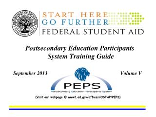 Postsecondary Education Participants System Training Guide