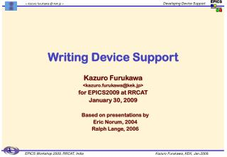 Writing Device Support