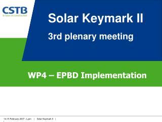WP4 – EPBD Implementation