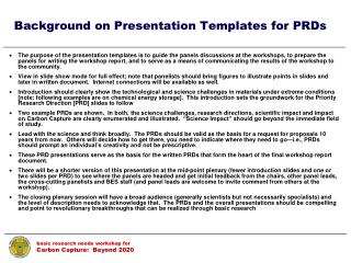 Background on Presentation Templates for PRDs