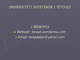 UNIVERSITETI SHTETEROR  I  TETOVES