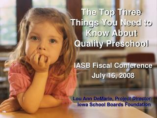 The Top Three Things You Need to Know About Quality Preschool