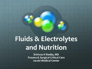 Fluids & Electrolytes and Nutrition