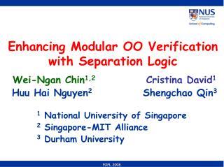 Enhancing Modular OO Verification with Separation Logic