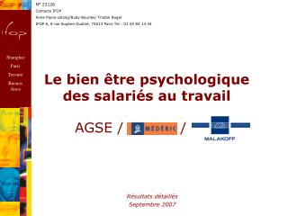 Le bien être psychologique des salariés au travail