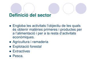 Definició del sector