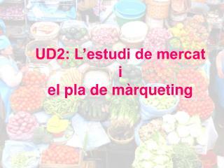 UD2: L'estudi de mercat  i  el pla de màrqueting