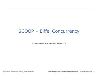 SCOOP – Eiffel Concurrency