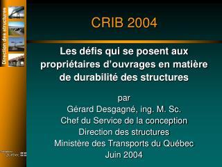 CRIB 2004