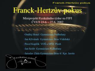 Franck-Hertzův pokus