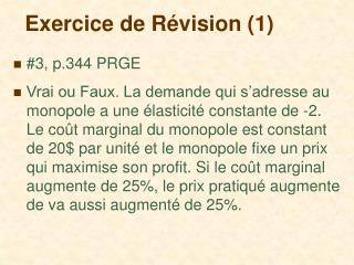 Exercice de R évision (1)