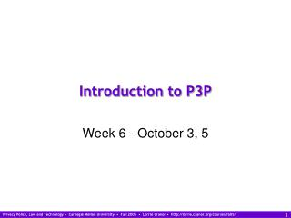 Introduction to P3P