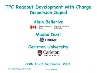 TPC Readout Development with Charge Dispersion Signal