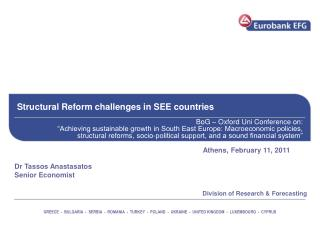 Structural Reform challenges in SEE countries