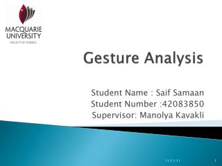 Gesture Analysis
