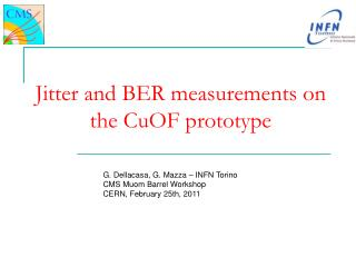 Jitter and BER measurements on the CuOF prototype