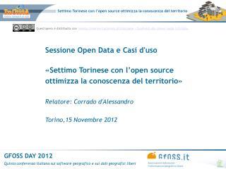 Sessione Open Data e Casi d'uso «Settimo Torinese con l'open source