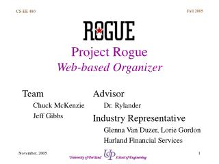 Project Rogue Web-based Organizer