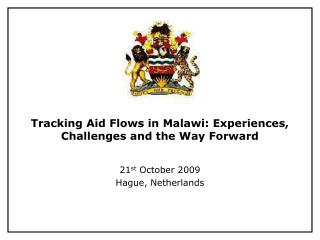 Tracking Aid Flows in Malawi: Experiences, Challenges and the Way Forward