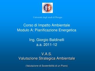 V.A.S. Valutazione Strategica Ambientale