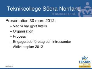 Teknikcollege Södra Norrland