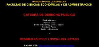 UNIVERSIDAD DE LA REPUBLICA FACULTAD DE CIENCIAS ECONOMICAS Y DE ADMINISTRACION