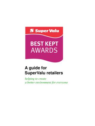 A guide for  SuperValu retailers