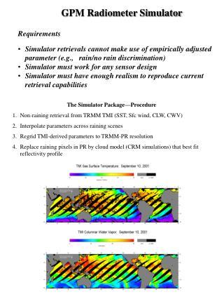 GPM Radiometer Simulator