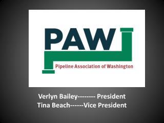 Verl Verlyn  Bailey-------- President Tina Beach------Vice President