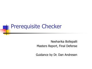 Prerequisite Checker