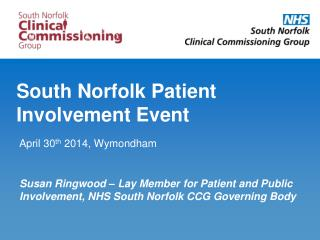 South Norfolk Patient Involvement Event