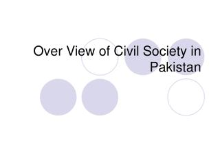 Over View of Civil Society in Pakistan