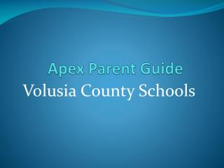 Apex Parent Guide