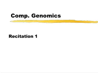 Comp. Genomics