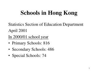 Schools in Hong Kong