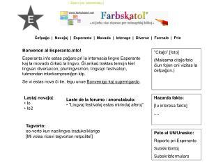 Bonvenon al Esperanto!