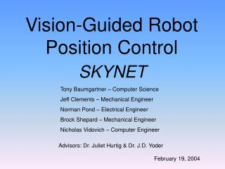 Vision-Guided Robot Position Control