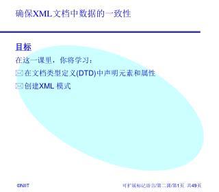 目标 在这一课里,你将学习:  在文档类型定义 ( DTD) 中声明元素和属性  创建 XML  模式