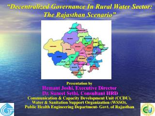 """Decentralized Governance In Rural Water Sector: The Rajasthan Scenario"""