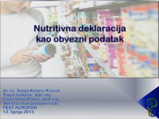 dr . sc. Sanja Kolarić Kravar Tanja Iveković, diplg Edita Volar Pantić, diplg.