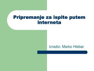 Pripremanje za ispite putem interneta