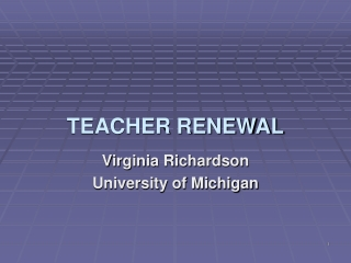 TEACHER RENEWAL