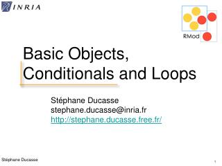 Basic Objects, Conditionals and Loops