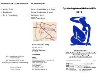 Mit freundlicher Unterstützung von: Amgen  GmbH  Eisai  GmbH Dr. R. Pfleger GmbH