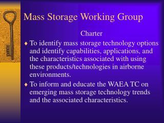 Mass Storage Working Group